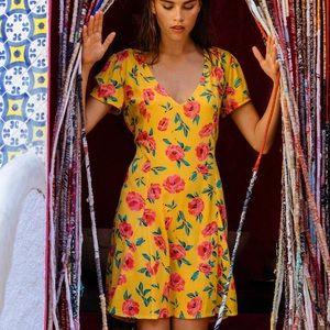 NWOT Billabong floral skater dress